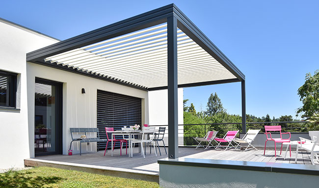 pergola bioclimatique lames sokool profitez de votre terrasse. Black Bedroom Furniture Sets. Home Design Ideas